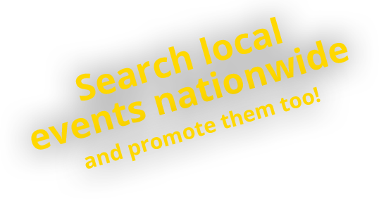 Search local events nationwide and promote them too!